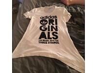 Adidas originals white top size 10
