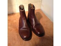 Mens top Quality Leather Boots UK 9 ( Alfred Sargent of Northampton)