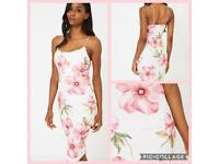 Bodycon Cami Dress in Floral Print
