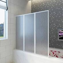 Shower Bath Screen Wall 141 x 132 cm 3 Panels Foldable 140785 Mount Kuring-gai Hornsby Area Preview