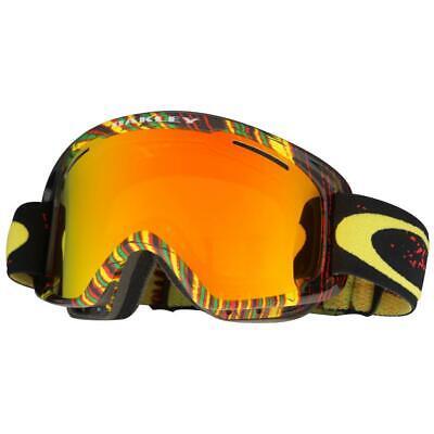 Oakley OO 7066-08 O2 XM Stumped Rasta w/ Fire Iridium Lens Snow Ski Goggles .
