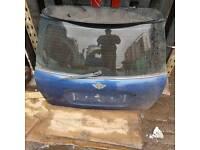 Mini Cooper 2003 boot complete tailgate blue