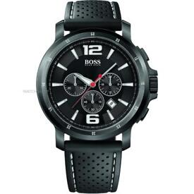Hugo boss gents Black Chronograph watch model 1512630 (new/boxed) rrp £399