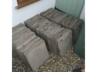 450x450 grey paving slabs