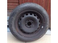 """Prime Well 4 Stud 14"""" Black Wheel & Tyre From 2003 Renault Clio - Fully Functional & Good Condition"""