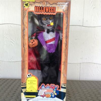 Vintage Holiday Creations Halloween Vampire Lighted laughing doll motionette