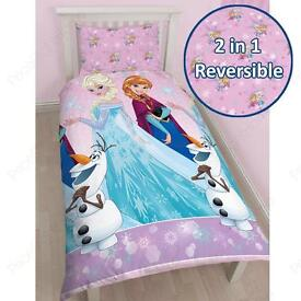 Frozen and Christmas single bedsheets