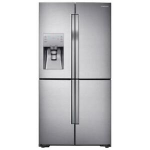 "Samsung 36"" 28.1 Cu. Ft. 4-Door French Door Refrigerator with LED Lighting - Stainless Steel"
