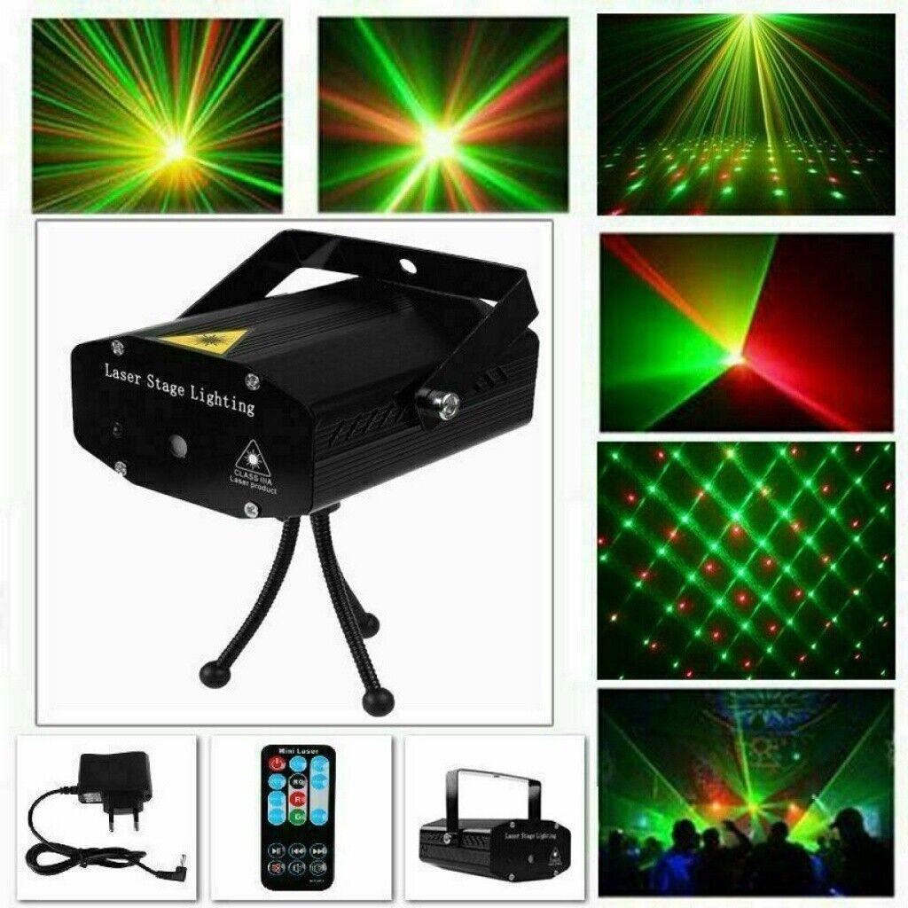 DE Muster RGB Laserlicht DJ Projektor Disco LED Beleuchtung für Home Party Hot