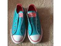 Girls turquoise & pink converse