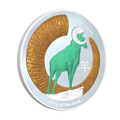 Niue 2015 $2 Chinese Lunar Calendar - Year of the Goat 1 Oz Silver