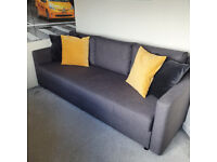 Ikea FRIHETEN Three-seat sofa-bed, Skiftebo dark grey