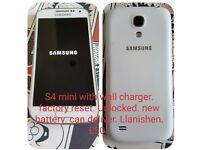 SAMSUNG S4 MINI. UNLOCKED MOBILE PHONE