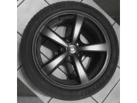 4 x 19 Inch Diewe Trina Black Alloy Wheels & 4 x Davanti Tyres