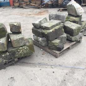 Yorkshire Stone - 25 Large Pieces Of Reclaimed Stone