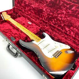 2015 Fender Custom Shop Ancho Poblano Relic Stratocaster - Limited Edition - Sunburst - Trades