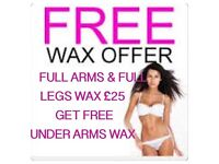 Waxing Brazillian Hollywood £15
