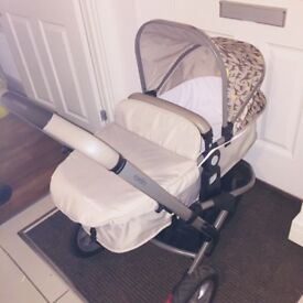 Mothercare Xpedior travel system - pram, buggy & car seat Tusk Edition. Great condition !!