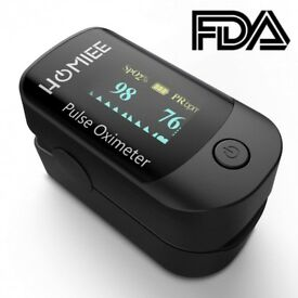 Oxygen Saturation Monitor, HOMIEE Pulse Oximeter Fingertip Blood Oxygen Monitor