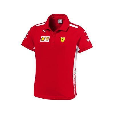 Scuderia Ferrari Formula 1 2018 Kids Team Red Polo w/Sponsors