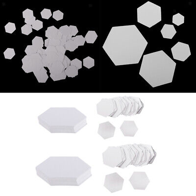 Handmade Paper Piecing Art (200 Pieces Hexagon Paper Piecing Template for DIY Quilting Arts Handmade )