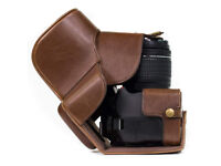MegaGear Ever Ready Nikon Leather Camera Case – Compatible with Nikon D3400  18-55 