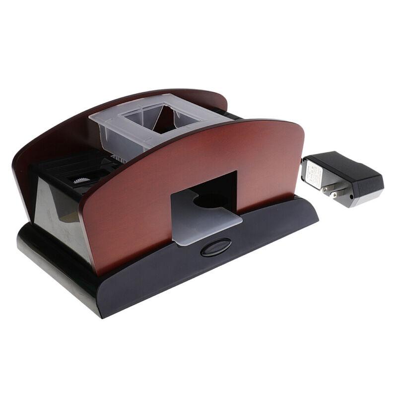Wooden Automatic Card Shuffler Dual Use Shuffling Machine Games Supplies