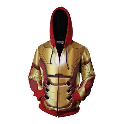 Avengers Endgame Iron Man Hoodies Coat Tony Stark Cosplay Costume Sweatshirt Cos - Tony Stark Costume