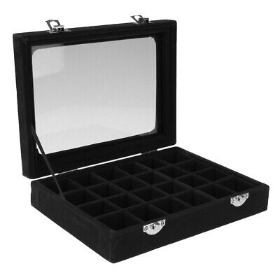 Jewellery Wooden Box Organizers Storage Display Case Ring Necklace Black