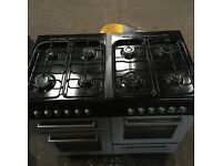 Gas hob cooker with electric oven
