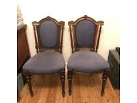 Antique French chairs and a nest of tables