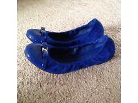 Brand new Authentic LOUIS VUITTON Elba Flat Ballerina in Royal blue