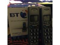 BT2000 twin Digital cordless Phone
