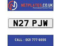 N27 PJW Registration Number Private Plate Cherished Number Car Registration Personalised Plate