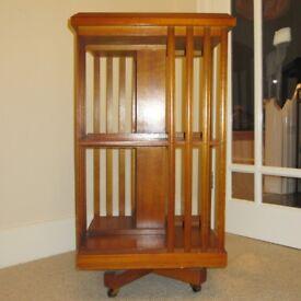 Revolving bookcase in mahogany (Edwardian)