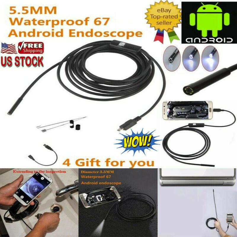 1.5M 5.5mm 6LED USB Waterproof Endoscope Borescope Mirco Sna
