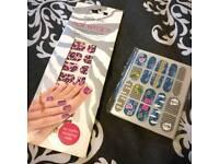 Two nail art sets