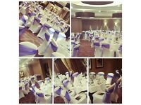 Chair Covers/ Sashes in all Colours/ Chivari Ice Chairs / Gold Louis Chairs