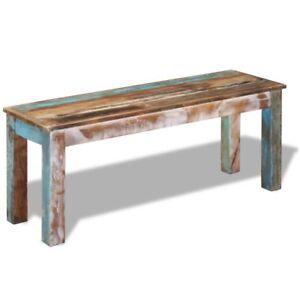 vidaXL Solid Reclaimed Wood Bench Dining Seats Home Seat Furniture Hall