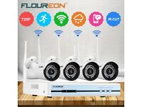 4CH Wireless CCTV 1080P DVR Kit Outdoor Wifi 720P IP Camera Security Video Recorder NVR System UK