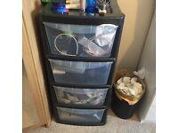 plastic 4 drawers