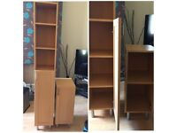 Beech Tall Unit & Matching Small Unit