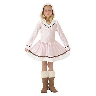 NEW ESKIMO KISSES PINK Dress warm VELVET HALLOWEEN COSTUME Girl  L 10-12 - Girl Kiss Halloween Costumes