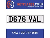 D676 VAL PRIVATE PLATE REGISTRATION PLATES CHERISHED REG PLATES RETENTION CHEAP