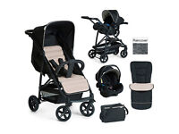 Brand new in box Hauck rapid 4 travel system Pram pushchair in grey and black. Unisex from birth