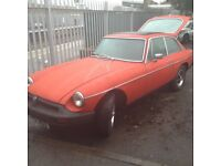 MG BGT ,flame red in a very good condition,including underbody structure ,great looking