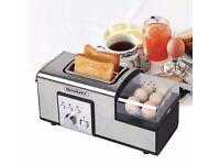 Smart breakfast master toaster - 2 slicer egg poacher