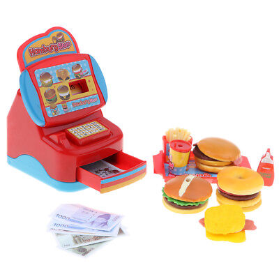 Plastic Food For Kids - Plastic Fast-Food Restaurant Kit Pretend Play Toy for Kids Toddlers