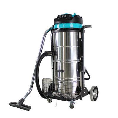 Vi 220v Industrial Vacuum Cleaner Wet Dry 90l Vac Blower Stainless Steel 3000w