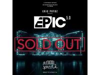 TWO TICKETS TO ERIC PRYDZ EPIC 5.0 LONDON VICTORIA PARK
